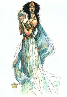 rebecca guay deviantart | Wonder Woman by Rebecca Guay. Such a lovely and ethereal ...
