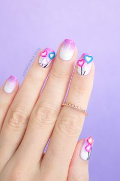 3d Love Valentines Day Nails. Click for how-to. #3d #nails #valentinesday