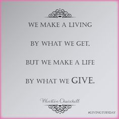 Love this quote #givingtuesday