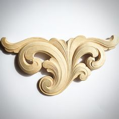 Thermocol Craft, Filigranes Design, Baroque Design, Wood Carving Designs, Jafar, Wood Ornaments, Acanthus, Architectural Elements, Woodcarving