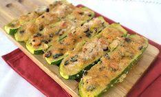 Courgettes farcies au thon WW, recette d'un bon plat de courgettes farcies et gratinées, facile et rapide à confectionner pour un repas léger du soir.