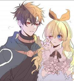 Anime Couples Manga, Cute Anime Couples, Anime Manga, Anime Guys, Anime Art, Alice In Wonderland Fanart, Yandere Anime, Manga Story, Cute Couple Art