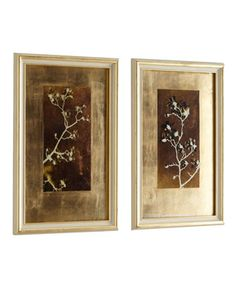 """John-Richard Collection """"Gold Leaf Branches"""" Prints"""