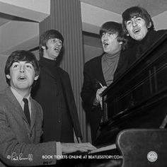 The Beatles, L-R, Paul, Ringo, John, George