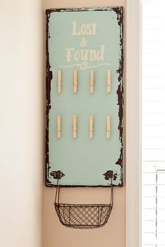 so cute for the laundry room!