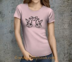Love Bunny Shirt - Female Pink