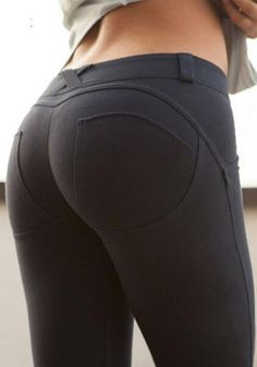 Black Plain Elastic Waist Mid-rise Slim Casual Legging