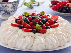 """20. Pavlova — """"A dessert consisting of a meringue base or shell filled with whipped cream and fruit."""""""