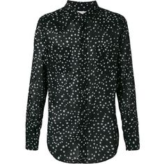Saint Laurent signature Dylan collar star print shirt (2.665 RON) ❤ liked on Polyvore featuring men's fashion, men's clothing, men's shirts, men's casual shirts, black, mens long sleeve collared shirts, mens long sleeve casual shirts, mens tailored shirts, mens slim fit long sleeve t shirts and mens slim shirts