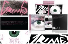 This conceptual CD packaging for the Grimes album Visions was created by Dylan Cook (Full Sail Digital Arts and Design, 2012 graduate) as part of a student project.