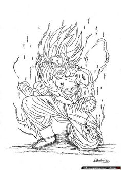 download video dbgt coloring pages - photo#23