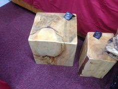 Very large cedar cube, stool or coffee table £165 at Www.planks2tops.vpweb.co.uk