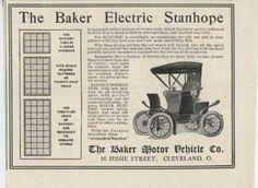 1910 ad baker electric motor car automobile the silent car 111910cl rh pinterest com