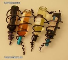 Villámnézethez kattints a képre! Wine Bottle Art, Wine Bottles, Hanging Wine Rack, Wine Wall, Iron Art, Wall Racks, Bar, Coffee Shop, Metal