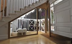 For Ian: Splash out on a wine cellar under the stairs - storage space in an alcove