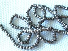ANTIQUE FRENCH STEEL CUT BEADS LOOSE METAL MICRO FACETED DIAMOND CUT SEED 20BPI