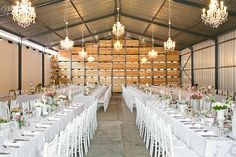 A shed coverted into the reception venue <3 Niki M Photography