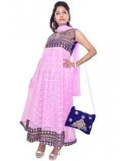 Pink Anarkali Suit Only at Rs 1499 Order Now https://www.crazora.com/anarkali-suits/vareez-pink-net-anarkali-suit-9947.html