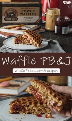 This Waffle PB & J recipe is a classic combo we all loved as kids but with a Kodiak Cakes twist. All you have to do is spread a healthy dose of your favorite peanut butter over one of Kodiak Cake's toasted Power Waffles, and do the same with your favorite jam or jelly on a second waffle. Sandwich the waffles together, and voila! This waffle sandwich packs in protein and will make you want to never go back to regular 'ole bread. Breakfast Crockpot, Breakfast Recipes, Dessert Recipes, Waffle Sandwich, Waffle Cake, Pb And J Recipe, Easy College Meals, Waffle Iron Recipes, Delicious Desserts