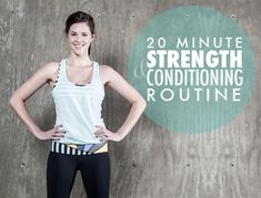 20 Minute Strength+Conditioning Routine to at home or while traveling, from one of our fav bloggers, Jessica Quirk of What I Wore