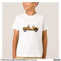 T-shirt met oranje Citroën Mehari
