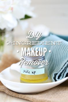 A simple two ingredient makeup remover that's gentle and effective. Costs just pennies to make one jar. No coconut oil in this recipe--just natural, simple and nourishing skincare ingredients. http://livesimply.me/2015/05/17/diy-2-ingredient-makeup-remover-without-coconut-oil/