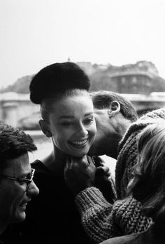 by Henry Wolf / Audrey Hepburn and Richard Avedon, 1959