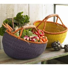 french country baskets - love baskets, probably have too many, but can't help myself