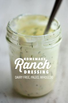 Paleo Ranch Dressing (+ Mayo!) // One Lovely Life