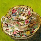 Tea Cup Art, Selling Paintings, Art Sites, Teacups, Wood Art, Archive, Canvas, Tableware, Tela