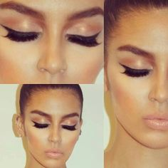 Very neutral bridal makeup with dramatic lashes.... perfect for the end of summer tan