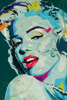 15 Artist Tributes to Marilyn Monroe #graphicdesign #art #illustration #MarilynMonroe