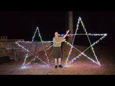 Star Christmas Lights, Christmas Light Show, Christmas Lights Outside, Hanging Christmas Lights, Christmas Light Displays, Xmas Lights, Holiday Lights, Simple Christmas, Christmas Things