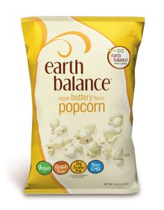 Vegan Buttery Flavor Popcorn - Drizzled with the delicious flavor of Earth Balance® Buttery Spread, this tasty snack is naturally vegan and gluten-free. Made with USA grown, non-GMO corn, it's the perfect movie accompaniment, lunchbox side kick, desk snack or anytime munchie, sure to satisfy any crunchy craving, naturally. #EarthBalance #Vegan