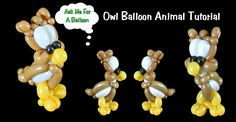 46  Owl Balloon Animal - Balloon Twisting Tutorial