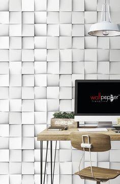 Papel de parede a quadrados CLUSTER Linha Materico by Wallpepper