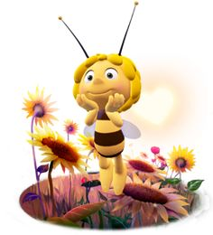 Show your love with Maya the Bee's smile. Bee Clipart, 2000 Cartoons, Happy Gif, Bee Party, Bee Theme, Cute Images, Paper Cards, Cartoon Drawings, Party Printables