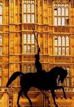 Statue of Richard I the Lionheart and The Houses of Parliament, London by Michael Trezzi Lets Run Away, Kingdom Of Great Britain, Houses Of Parliament, Republic Of Ireland, Beautiful Places In The World, England Uk, Best Cities, Viera, Northern Ireland