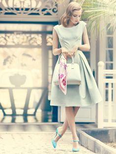 preciousdailyoutfits:    mint retro ladylike