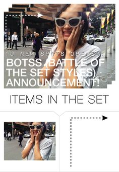 """""""battle of the set styles announcement"""" by kristen-gregory-sexy-sports-babe ❤ liked on Polyvore featuring art"""