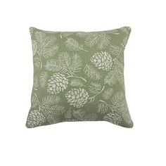 - Material: 50% cotton, 50% polyester. - Woodlands inspired designer featuring pincones and sprigs. - Piped edging and hidden zip closure. - Pattern printed on both sizes. - Fits inserts of size 18x18in. - Size:One Size Cushion Pads, Cushion Covers, Throw Pillow Covers, Throw Pillows, Printed Curtains, Printed Cushions, Scatter Cushions, Sage Living Room, Green And White Bedroom