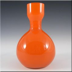 Elme 1970's Swedish/Scandinavian Orange Cased Glass Vase - £19.99