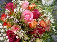 Frisch gebunden Blumen