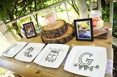 Wedding Guest Signing Table :)