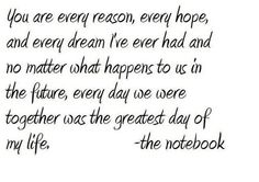 love quote  the notebook