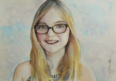 Acoustic Drawings The Shinji Ogata Gallery: A Beautiful Girl with Her Glasses 眼鏡をかけた美しい少女