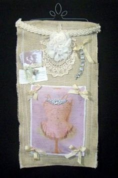 Wall Hanging DANCE INSTRUCTOR ROMANCE burlap by pillowsbytamilyn, $49.00
