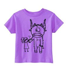 Ouchy Monster Tee Lavender now featured on Fab.