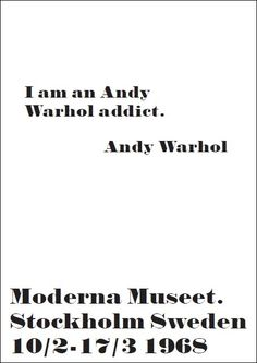 I am an Andy Warhol addict. Daarom deze leuke quote bedacht - #andywarhol - Buy it at www.vanmariel.nl - Card € 1,25 Poster € 3,50