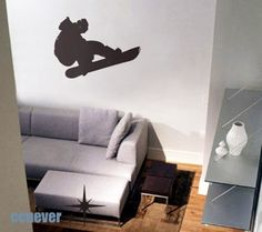 -Removable Graphic Art wall decals stickers. We have one of these in our game room, except it's a baseball player. So easy to put on and take off to move!